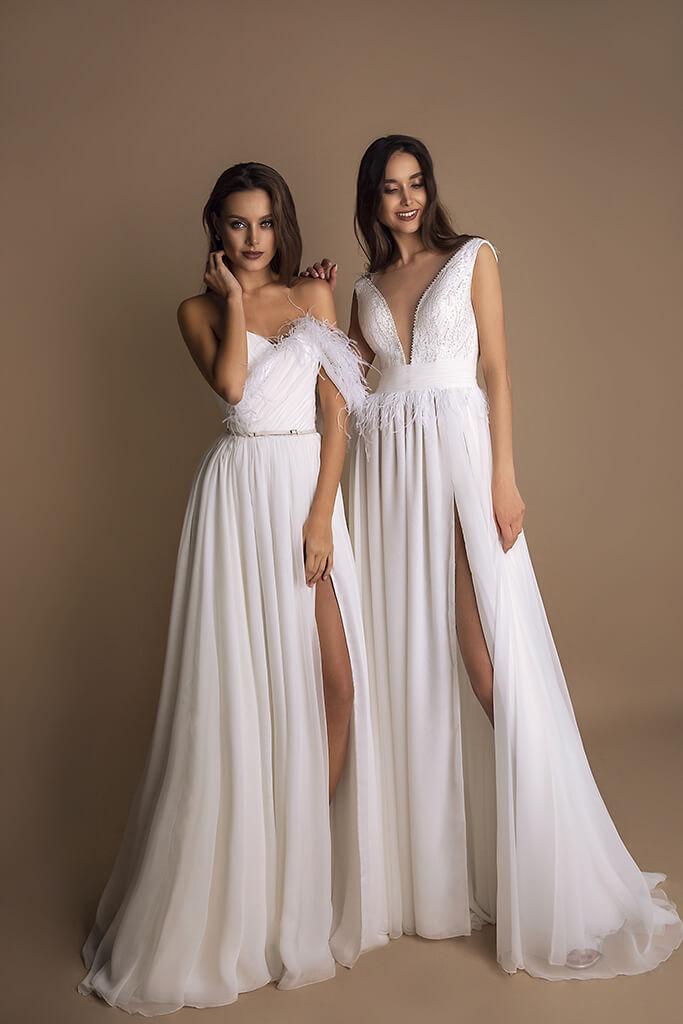 Suknie ślubne Coco Kolekcja  New Look  Sylwetka  Balowa suknia   Kolor  Kremowy  Dekolt  Dekolt w kształcie serca  Rękawy  Ramiączka spaghetti  Flex  Z trenem