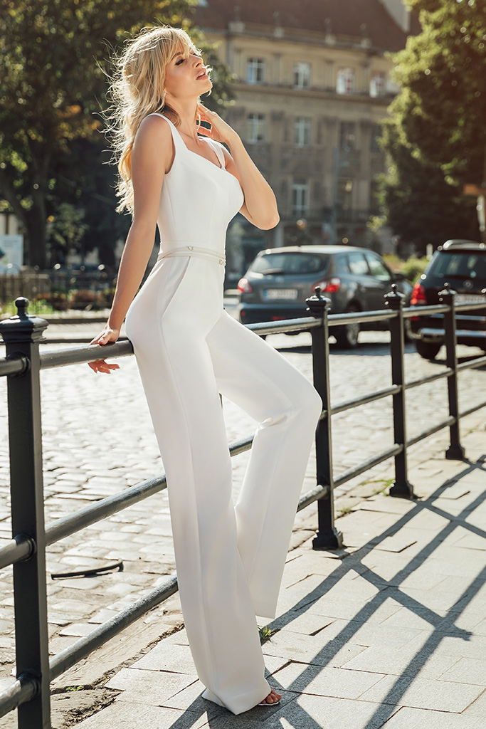KY Atelier Dezire Collection  City Passion  Silhouette  Sheath  Color  Ivory  Neckline  Straight  Sleeves  Wide straps  Train  No train
